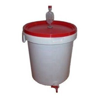 fermentation bucket 33 liters, with airlock, lid and tap