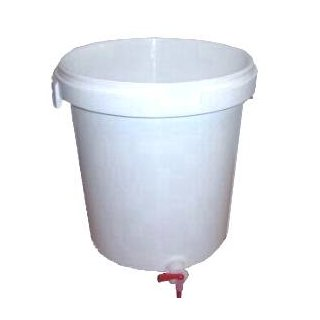 Bucket (33 liters) with tap, without cap